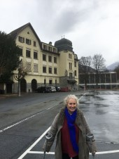 I made it down the hill, very slowly, given the near freezing temperatures in Visp. And I have to wonder if some people in this town are uncomfortable that the school is named after Sepp Blatter, of Fifa fame?