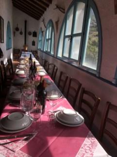 Sardinia Oliena Agriturismo Camisadu lunch table set_191016