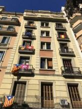 Barcelona Catalan flags_121117