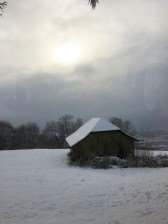 En route, fresh snow in Valais