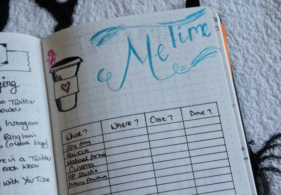Bullet Journal Me Time