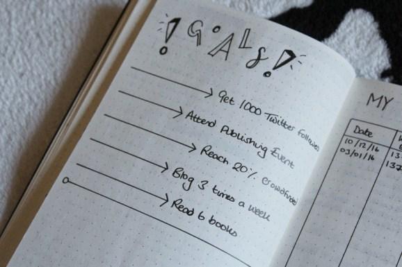 Bullet Journal Goals 2