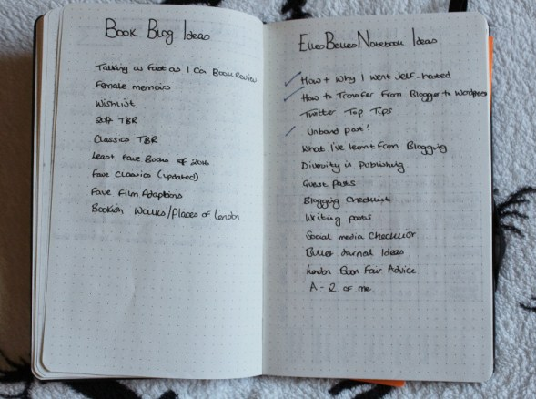 Bullet Journal Blog Ideas