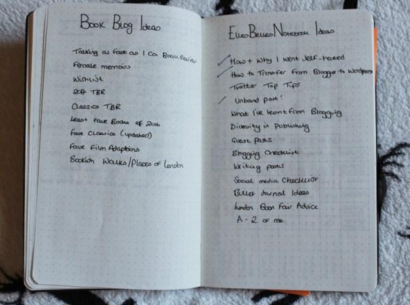 Bullet Journal Blog Ideas