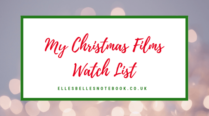 Christmas Films watch list