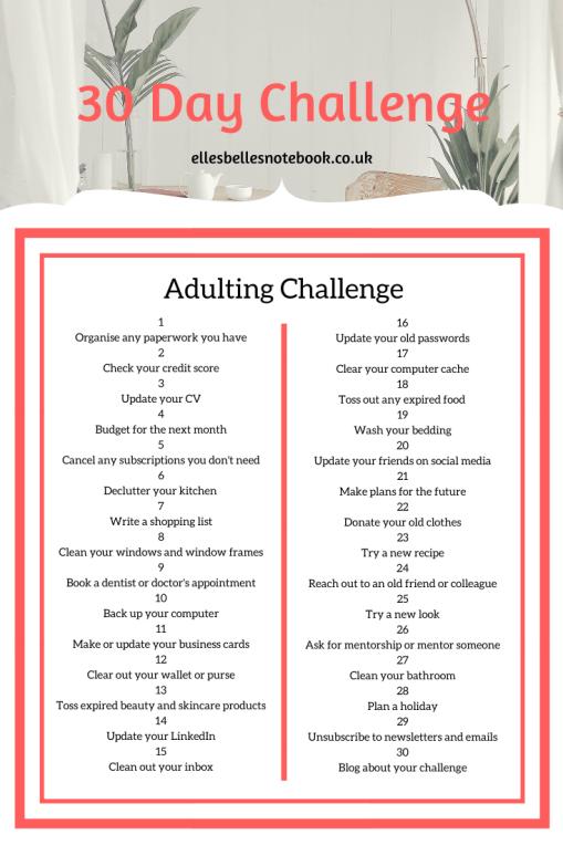 Adulting Challenge