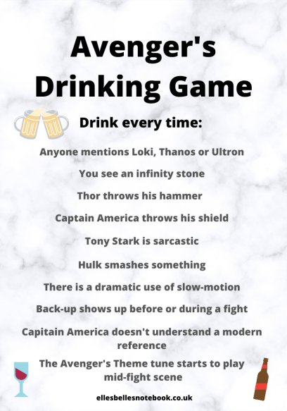 Avengers Drinking Game