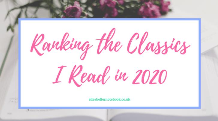Ranking the Classics I Read in 2020