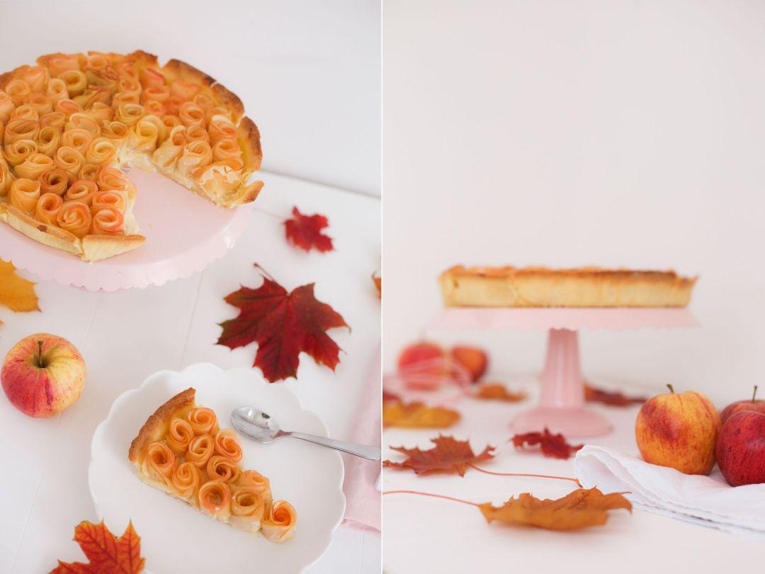 Ma tarte aux pommes roses pour octobre rose elles en - Dessin tarte aux pommes ...