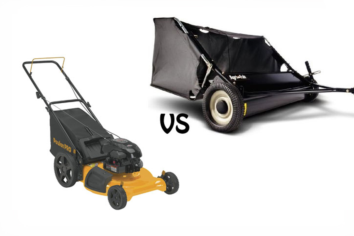 lawn sweeper or bagger