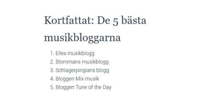 Elles Musikblogg. Bästa bloggarna inom musik 2021