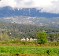 And here is the villa....as you can see, nestled at the bottom of the mountains!