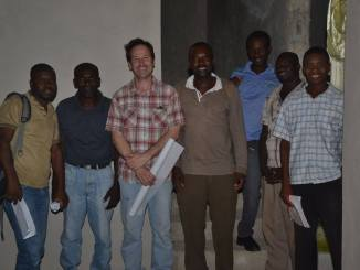 Bruno Reich, Rotarian & Architect with team in Haiti