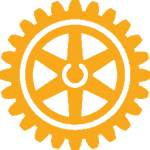 Rotary Wheel logo gold