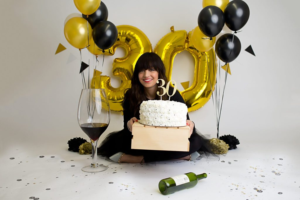 Rochelle F celebrating her 30th birthday in style, in-studio in Beachwood, OH