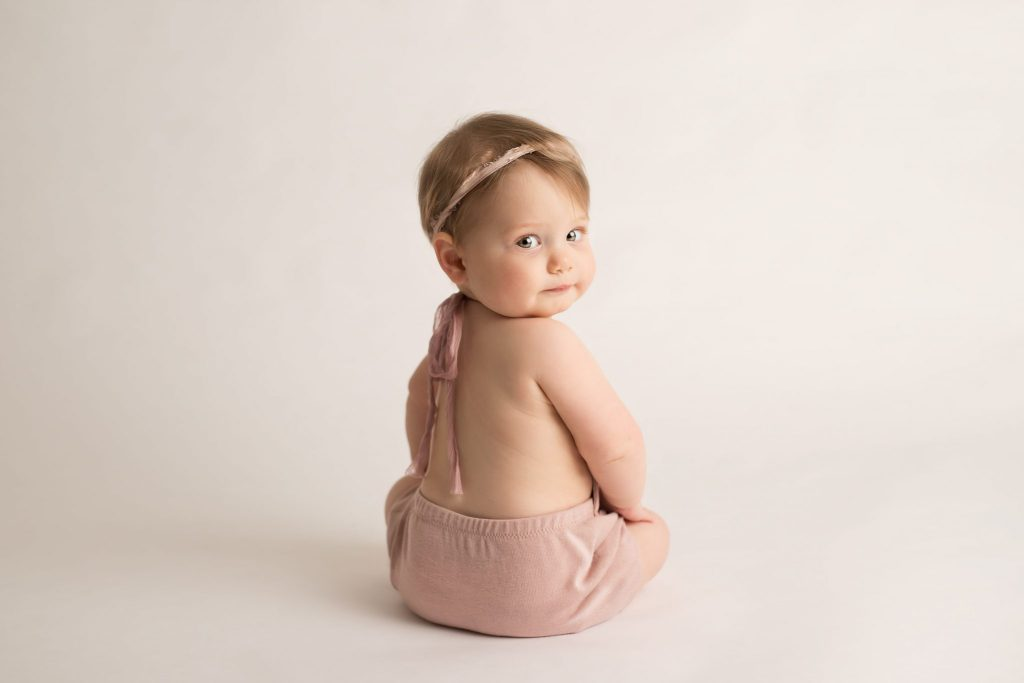 8 month baby girl in studio session