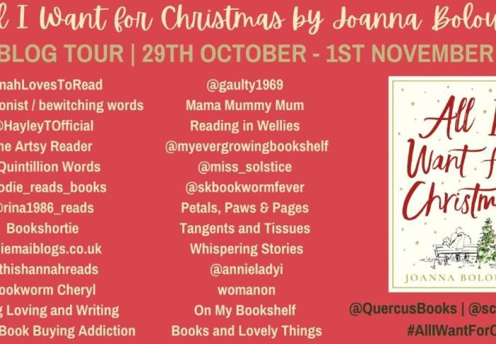 All I Want for Christmas by Joanna Bolouri | Blog Tour
