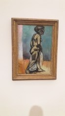 H.Matisse, Standing Nude 1907, Nu debout, oil on canvas, influenced by African Art - this painting suggests he was influenced by carved figures