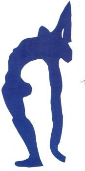 Acrobats, 1952. Stencil