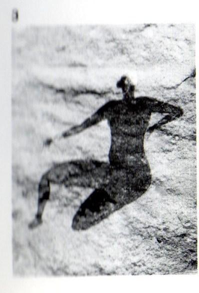 Female Figure, painted on stone, Sefar, Tassili N'Ajjer, Sahara. Neolithic, about 3000 BC. P15.