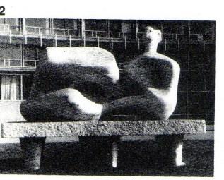 Henry Moore (b.1898): Reclining Figure. Marble. 1957-8. UNESCO Building, Paris. p300