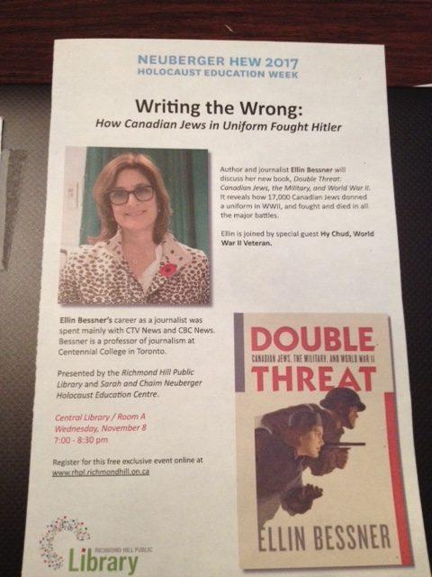 flyer for Ellin Bessner speech