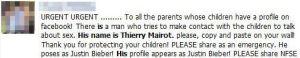 Καταρρίπτεται - Ο Thierry Mairot στο facebook, θέλει να μιλήσει στα παιδιά για το σεξ