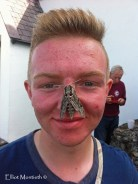 George with a Convlovulus Hawk Moth and as you can see he's fresh back from 2 weeks in Portugual