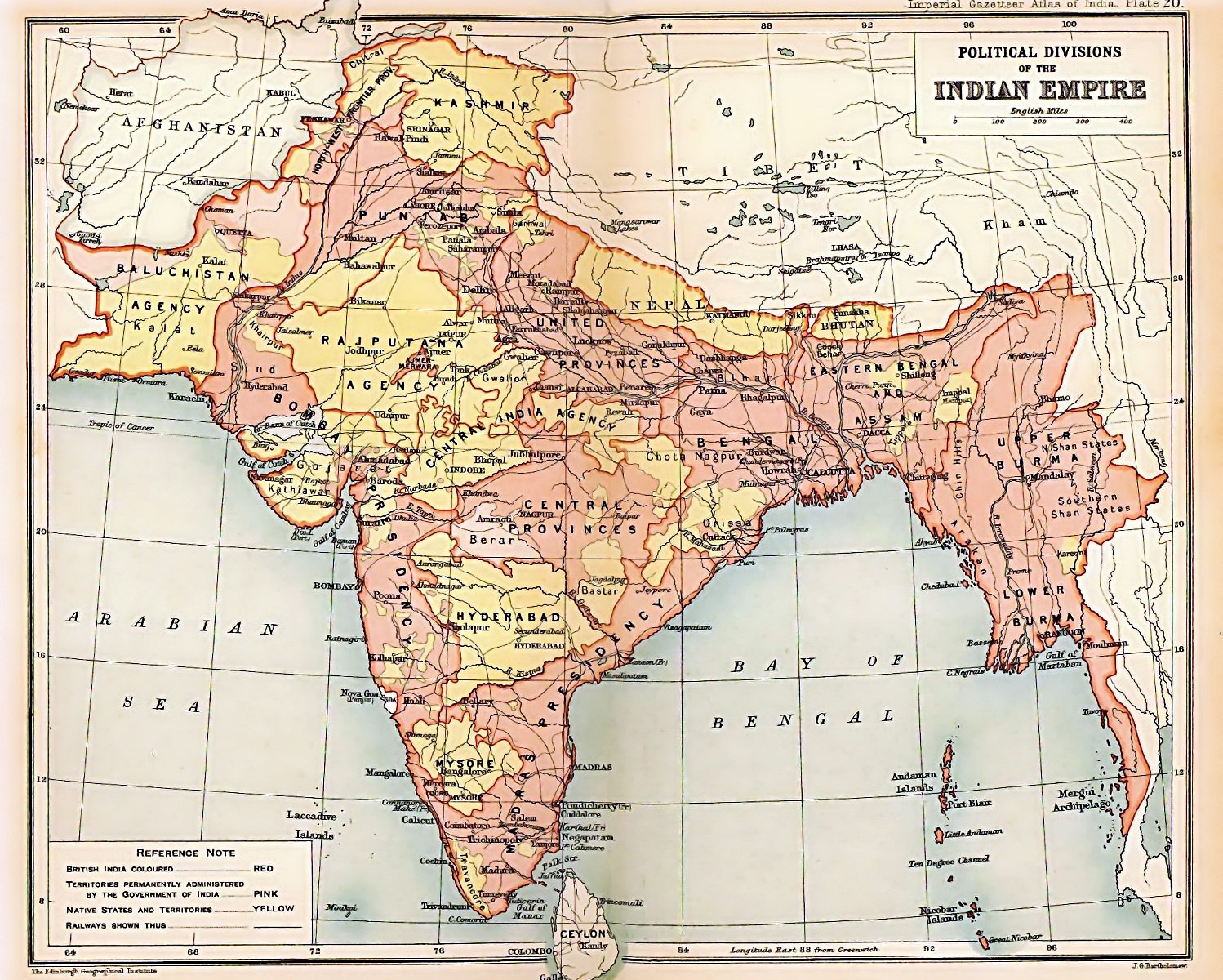 India_1909_map