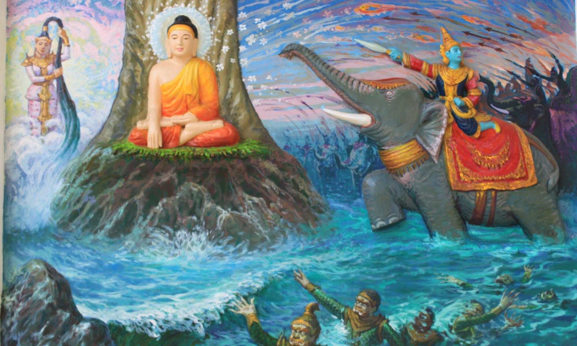 Buddha in the Shwedagon (Free Yoga Photo) by Elliot Telford