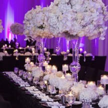 estate table, king table, luxury florals
