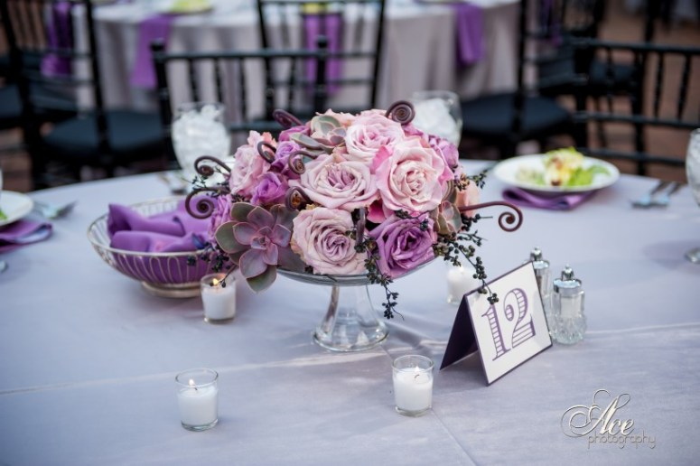 Mauve and Puryple Flowers with Succulents and monkey tails, Nashville Wedding Planner, designer