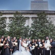 wedding party, black and white wedding, nashville wedding planner