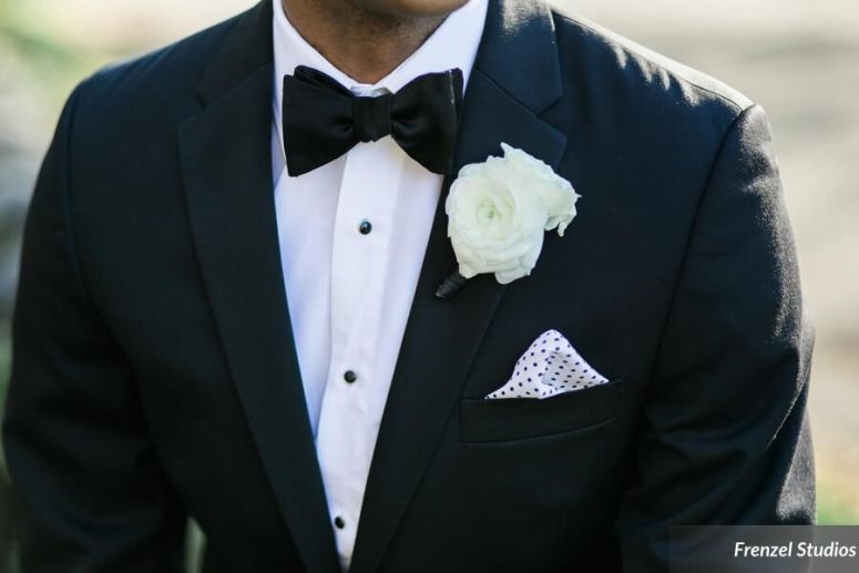 bowtie, suit, groom, grooms flower, boutonniere