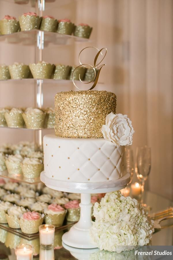 cupcakes, cake, gold, sequin