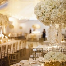 white centerpieces, nashville wedding designer