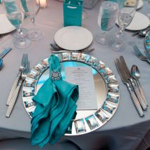 place setting, new jersey wedding