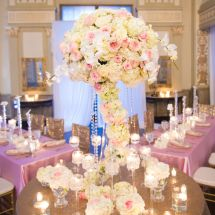 memphis wedding planner, orchids, centerpiece