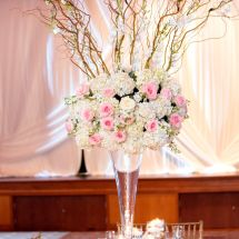 blossoming branches, decor, centerpiece