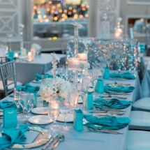 tiffany blue, nfl wedding, new jersey