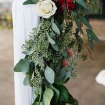 rose, greenery, red, white, ceremony