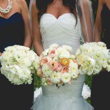 bride and bridesmaids bouquets, nashville wedding