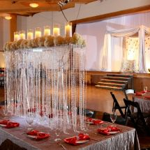 reception, red, white