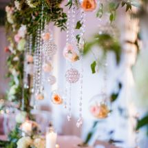 floating decor, jewels, flower