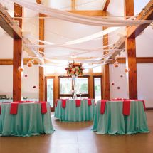 multicolor wedding, reception, floating decor