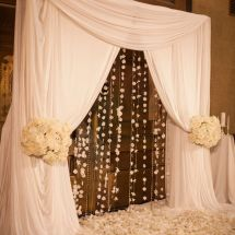 wedding altar, flowers, nfl ceremony