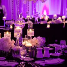 nfl wedding, white, purple, black