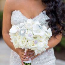 bride bouquet, nfl bride, nfl wedding