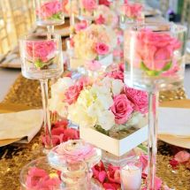 pink, gold, reception