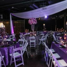 purple wedding, nashville wedding planner